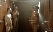 Cock smoker Bo Hansen in naked Snipers Valley locker room scene