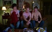 Three Twinks including Charlie McDermott take off their tops.