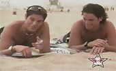 Shit stabbers Evan and Jaron sunbathing and relaxing at the beach