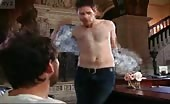 Camp man Glenn Howerton Strips off his shirt for the interveiw panel