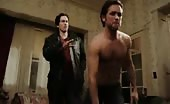 Poofter Justin Chatwin topless in Shameless