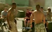 Topless hunk Terry Chen in Combat Hospital
