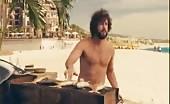 Bummer Adam Sandler naked on the beach