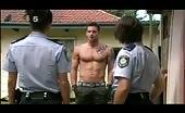 Buff Aussie hunk Dan Ewing talks to police