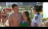 Matress muncher Lincoln Younes Shirtless At Beach Carnival