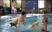 Bummer Charles Cottier taking a swim