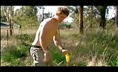 Bum bandit Brenton Thwaites working with no shirt on