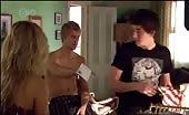 Aussie Bum Driller Luke Mitchell in Topless Washing Up Scene