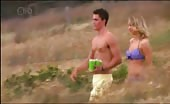 Andrew Morley & Johnny Ruffo topless going to the beach