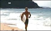 Surfing faggot Luke Mitchell Shirtless
