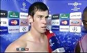 Soccer faggot Gareth Bale shirtless in interview