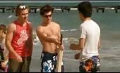 Hunk James Sorensen is at the beach