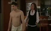 Twink James Sorensen wearing only a Towel