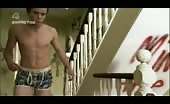 Joe Dempsie tries to take a shower after a bummer party