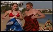 Homo Kyal is shirtless at the beach