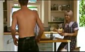 Luke Mitchell Cums to breakfast in his pants