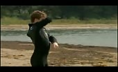 Sam Clark Looks Super Hunky in His Wetsuit at the Beach